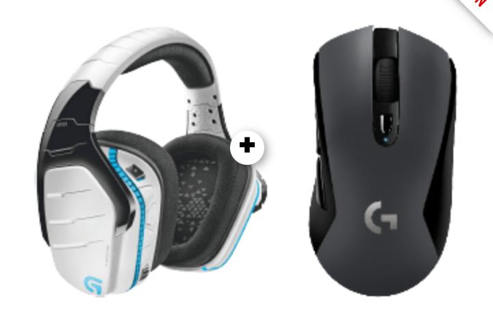 LOGITECH G933 Artemis Spectrum Gaming-Headset Weiß + LOGITECH G603 LIGHTSPEED kabellose Gaming Maus , Schwarz (Mediamarkt)