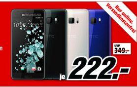 """HTC U Ultra [14,48cm (5,7"""") Quad HD Super LCD 5 mit Dual Display, Android 7.0, 2.15GHz Quad-Core, 12MP Kamera] alle Farben für je 222,-€ versandkostenfrei [Mediamarkt]"""