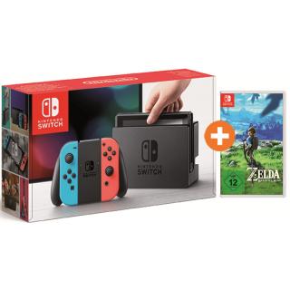 [Expert Bielinsky] Nintendo Switch rot/blau inkl. Zelda