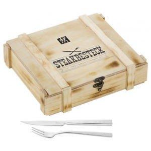 Zwilling Steakbesteck 12-teilig in Holzkiste für 24,99€ [Amazon Prime]