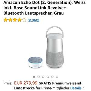 Bundleaktion bei Amazon Bose inklusive DOT