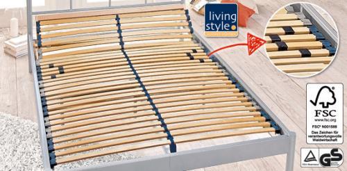 [LOKAL Augsburg] LIVING STYLE® 7-Zonen-Lattenrost 140x200