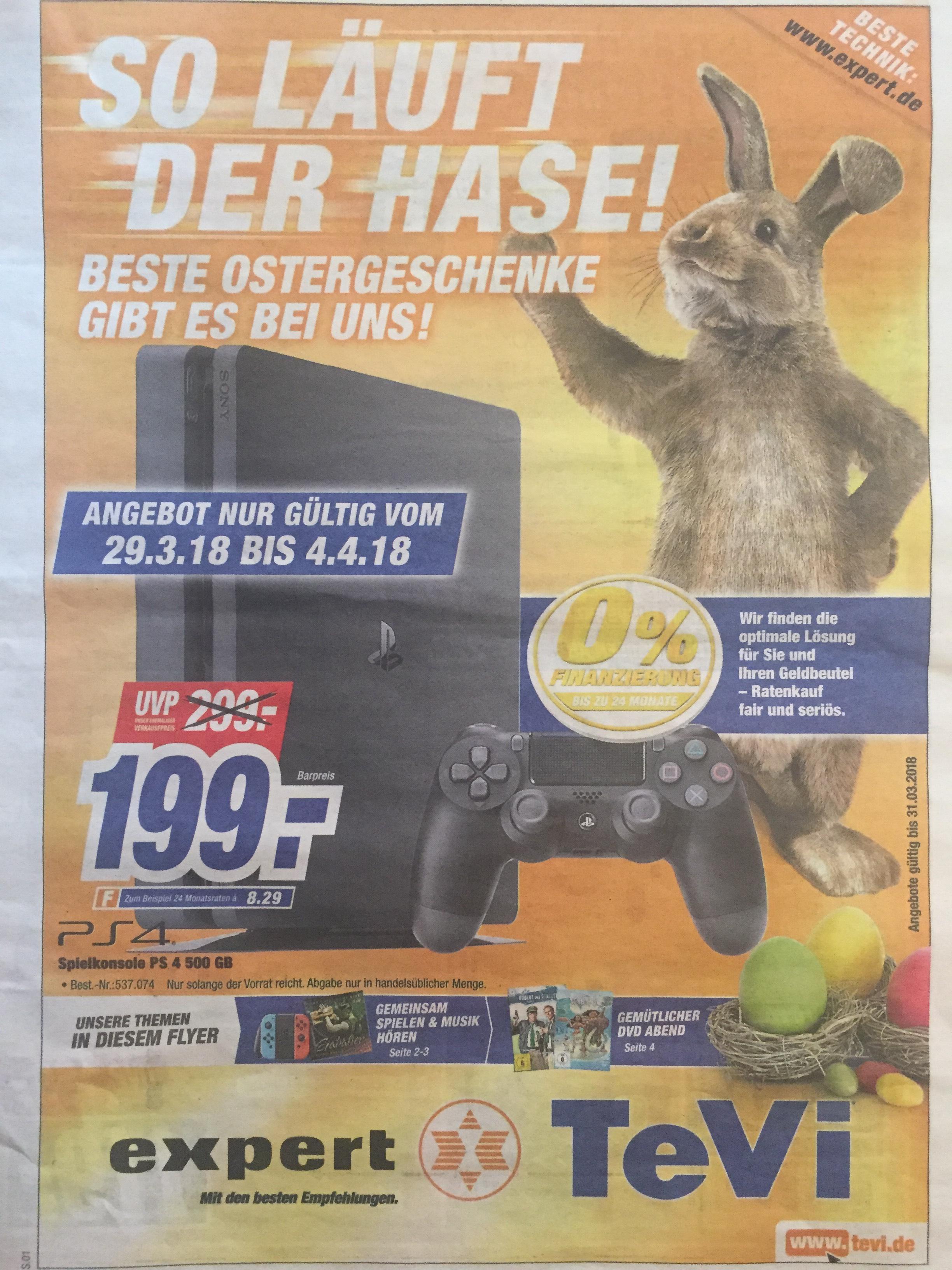 (evtl. Bundesweite Aktion) Sony PlayStation 4 (PS4) 500 GB (TeVi Neumarkt i.d.Oberpfalz)