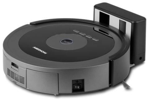 [Medion] MEDION® Saugroboter MD 17225, bequeme Steuerung per Smartphone oder Tablet, Zeitvorteil durch intelligente Raumerkennung und Reinigung zu festlegbaren Terminen