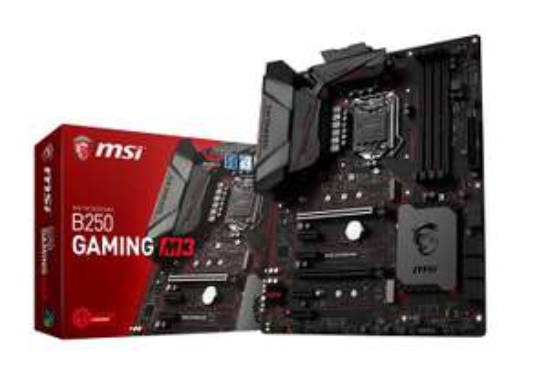 MSI B250 GAMING M3 Mainboard, Sockel 1151, 4x DDR4 DIMM, 6x SATA, USB 3.1