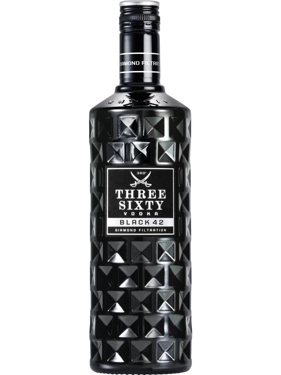 Three Sixty BLACK Vodka 42% zum günstigen Preis