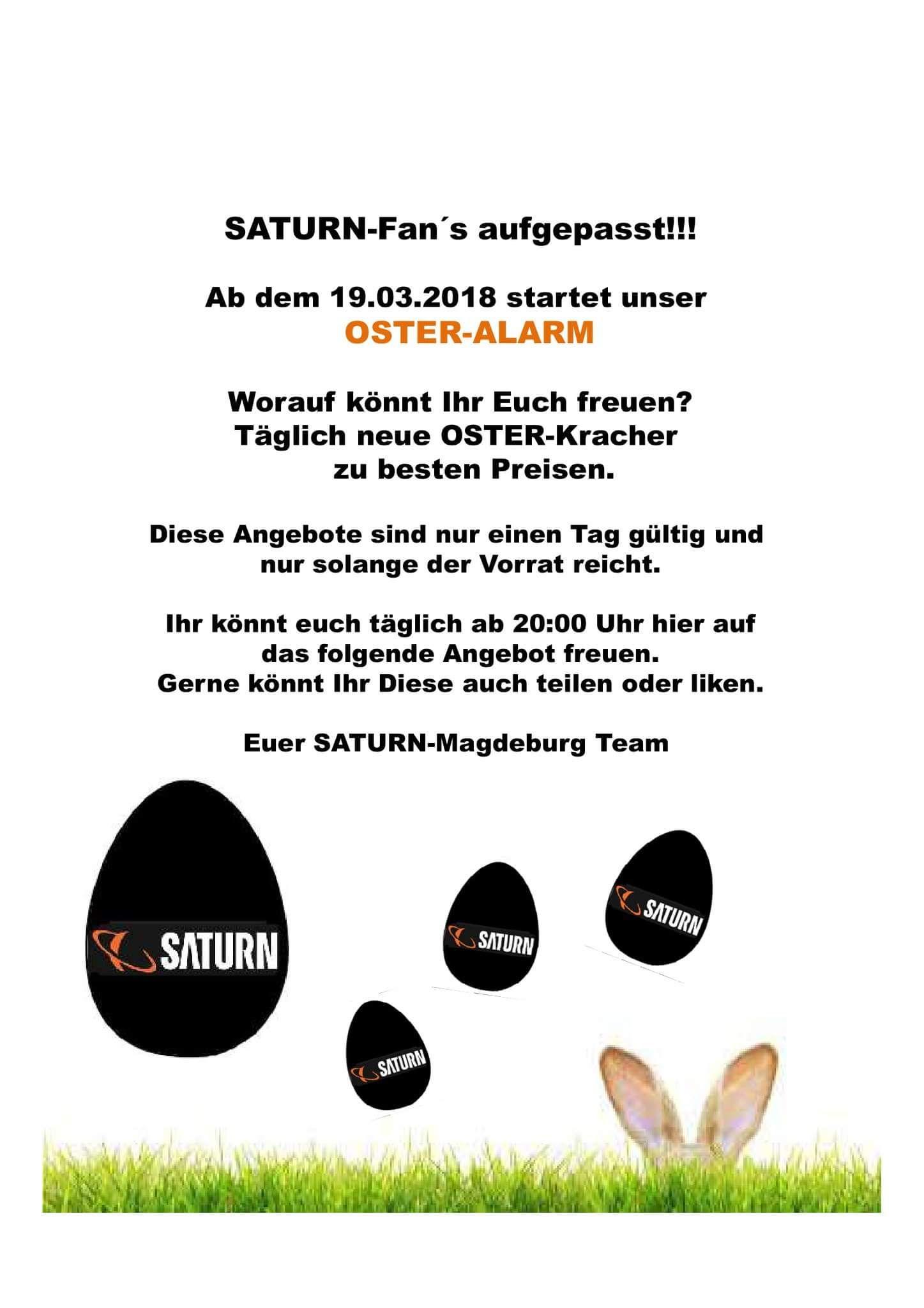 [Lokal] Saturn Magdeburg verschiedene Oster Angebote