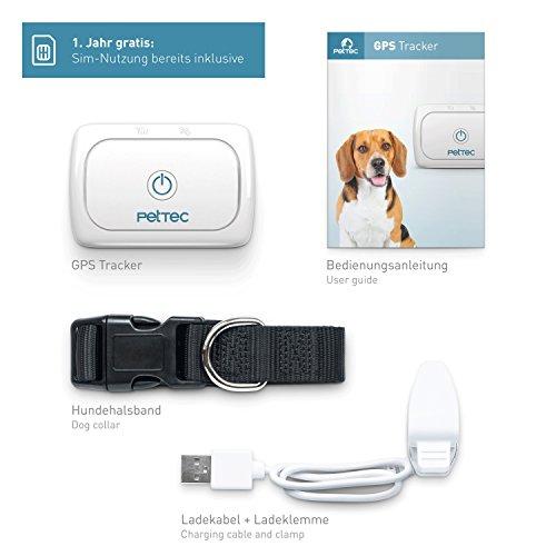 PetTec GPS Tracker für Hunde & Katzen inkl. 1 Jahr gratis Sim-Nutzung