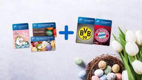 Osteraktion Aral Gutscheine/ 5€ Waschgutgaben gratis / Versandkostenfrei / Mindestbestellwert 20€