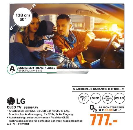 (Lokal) LG 55EG9A7V OLED TV 55 Zoll für 777,00 € @ Saturn Bochum