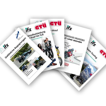 Gratis Broschüren zum Thema Motorrad und Verkehrssicherheit