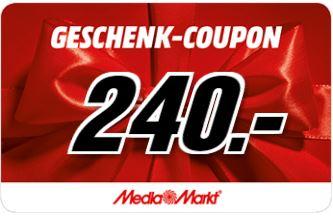 Mediamarkt: 10GB Telekom LTE Daten-Tarif + 240€ Geschenk-Coupon -  eff. 11,66€/M