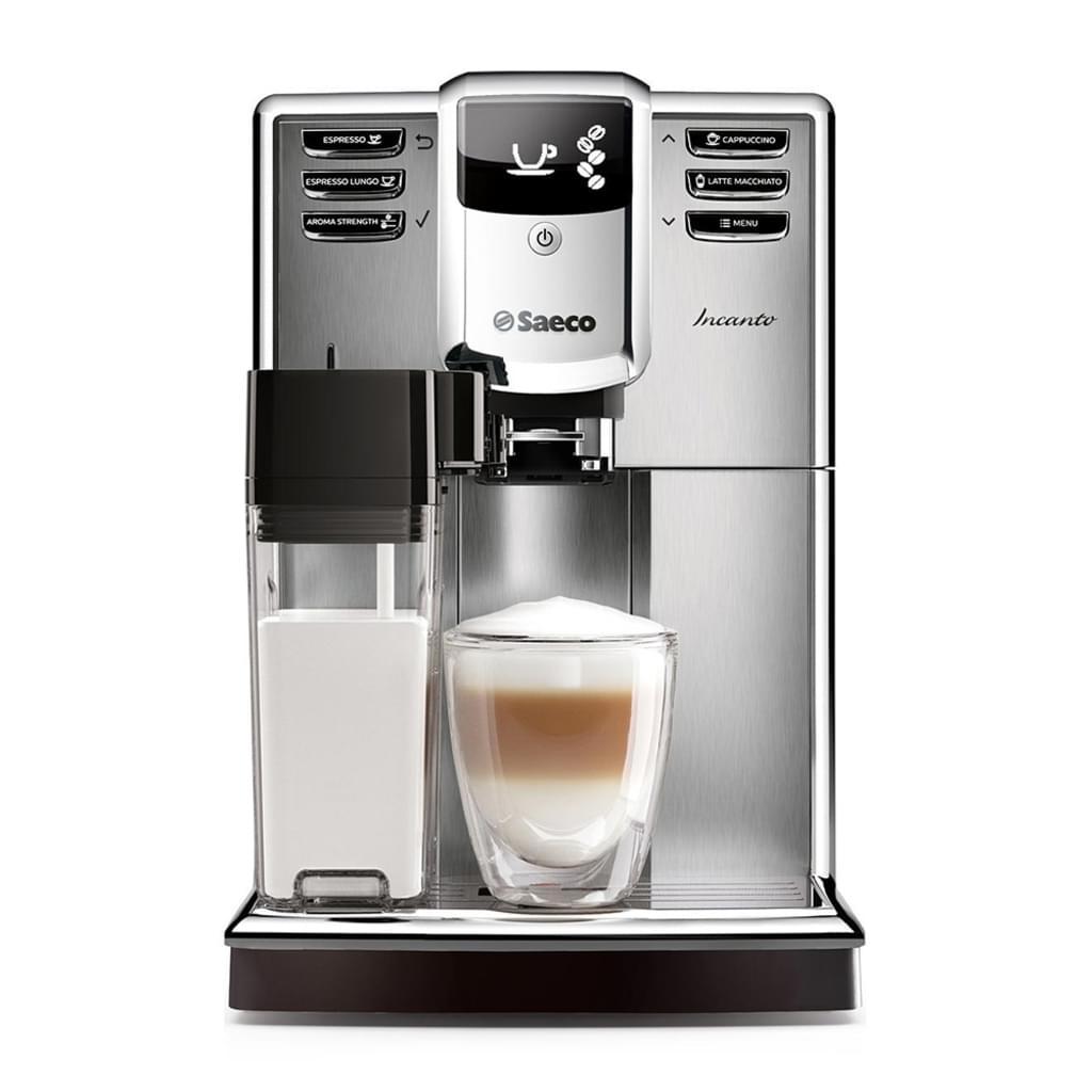 Saeco HD8917/01 Incanto Kaffeevollautomat (1850 Watt, AquaClean, integrierte Milchkaraffe) silber [Amazon Prime]
