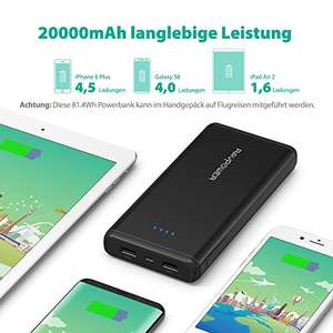 (PRIME) Powerbank RAVPower 20000mAh Externer Akku Battery Pack 2 Port iSmart 5V/3.4A