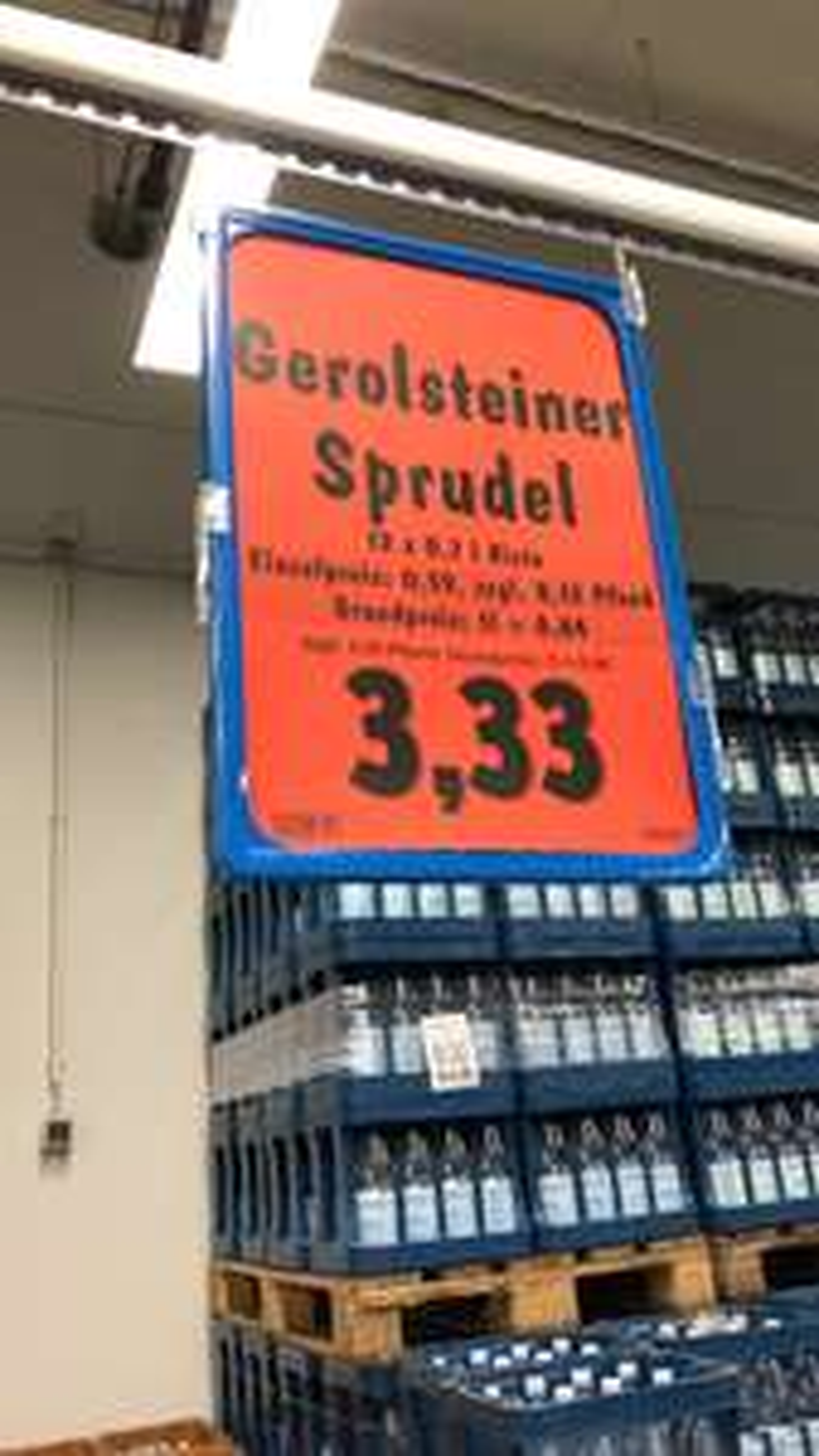[Lokal Düsseldorf Edeka Zurheide] Gerolsteiner Sprudel und Medium - Mineralwasser in Glasflaschen im 12x 0.75l Kasten