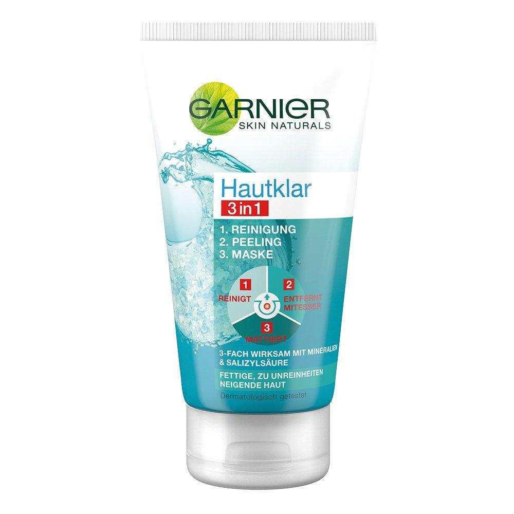 Amazon Sparabo Garnier Hautklar 3 in 1 Gesichtsreinigung, Peeling, maske, 1er Pack (1 x 150 ml) 2,10 Euro