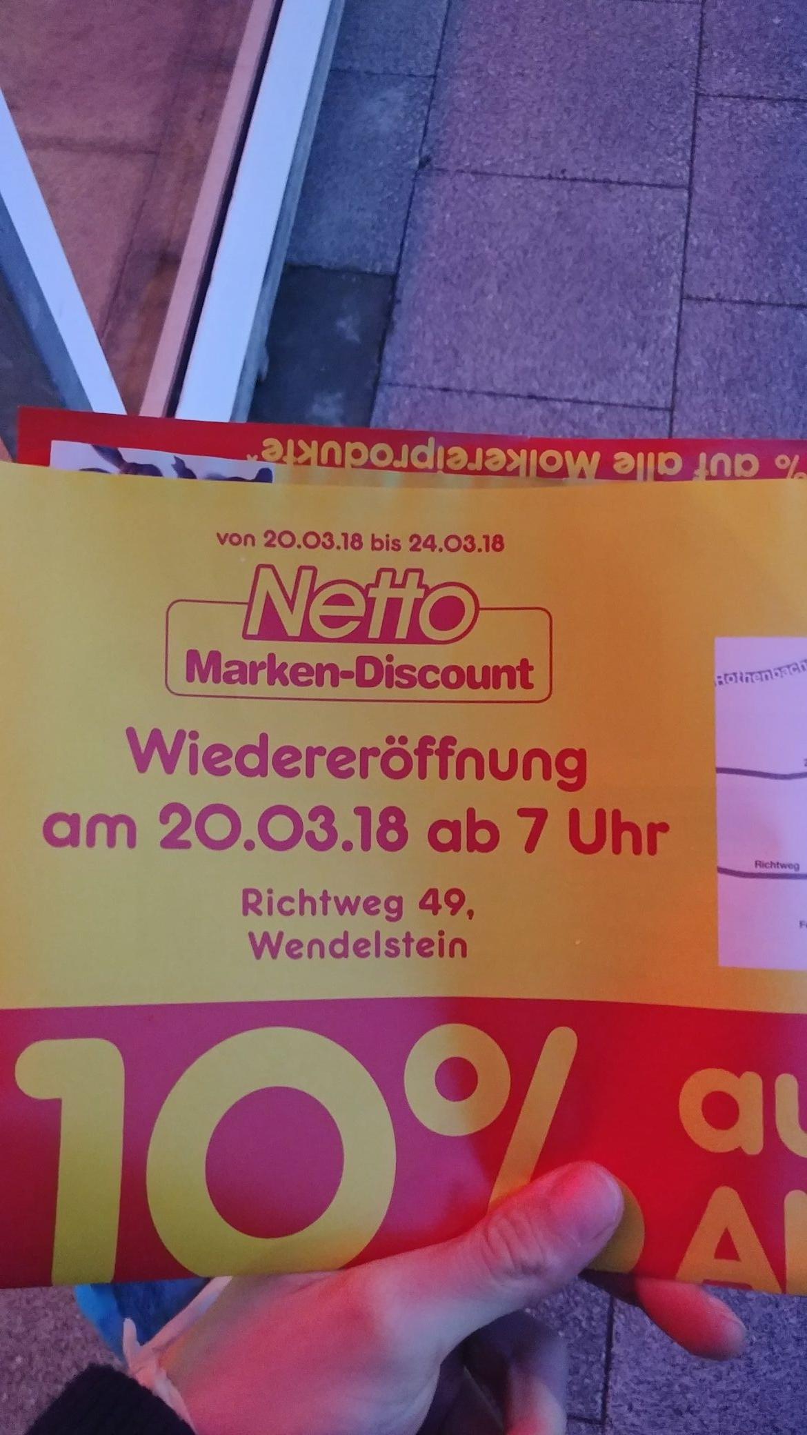 *LOKAL* Wiedereröffnung Netto Wendelstein