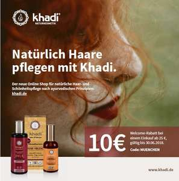 khadi.de - 10€ Rabatt, MBW25 - kostenfreier Versand