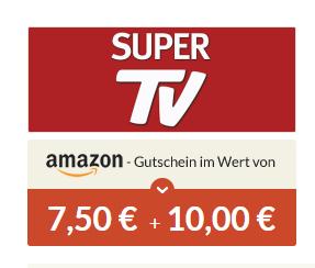 Super TV mini Abo 10€ Bar + 7,50€ Amazon Gutschein (Achtung Kündigen)
