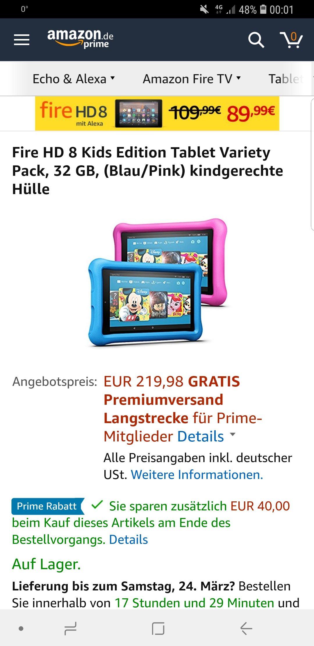 2 x Amazon Tablet für die Kids