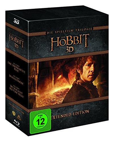 Der Hobbit Trilogie - Extended Edition (3D Blu-ray + 2D) für 34,97€ (Amazon)