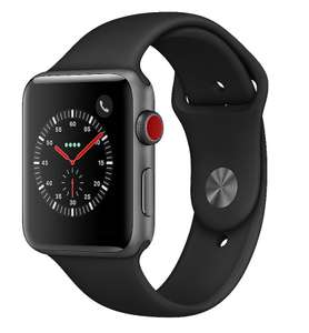 Apple Watch Series 3 GPS + Cellular Space Gray Aluminium 42mm Black Sport Band