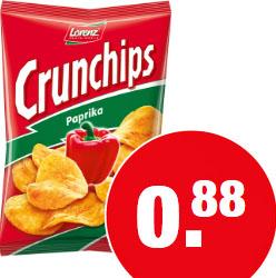 Lorenz Crunchips und Erdnuß Locken, verschiedene Sorten für 88 Cent [NP Discount]