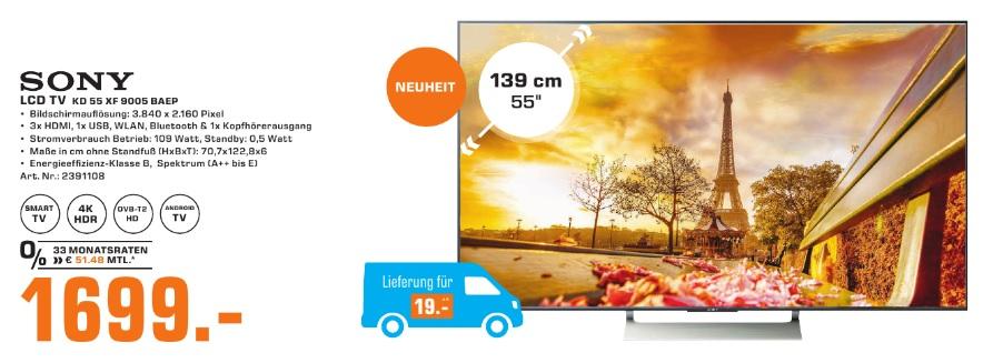 Lokal Frankfurt SkylinePlaza: Sony KD-55XF9005 LED TV (gerade erschienen)