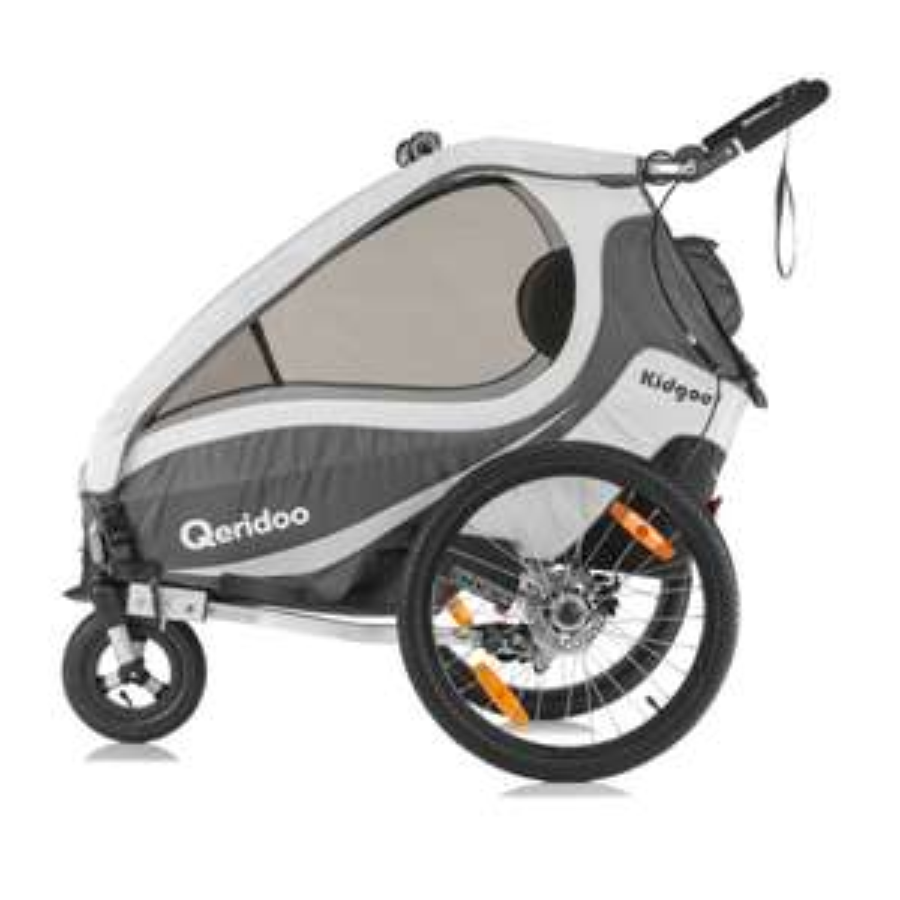 Qeridoo® Kinderfahrradanhänger Kidgoo1 Sport