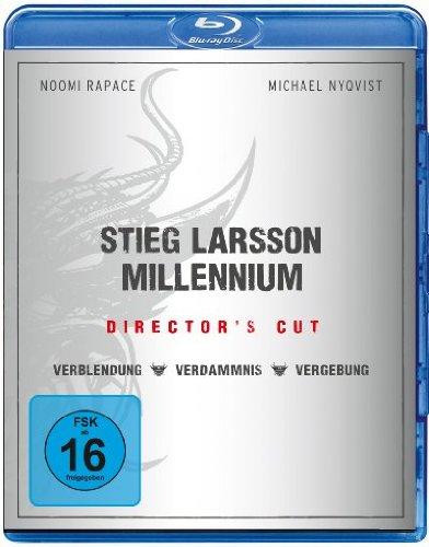 Stieg Larsson - Millennium Box Director's Cut (Blu-ray) für 9,97€ (Amazon Prime Blitzangebot)