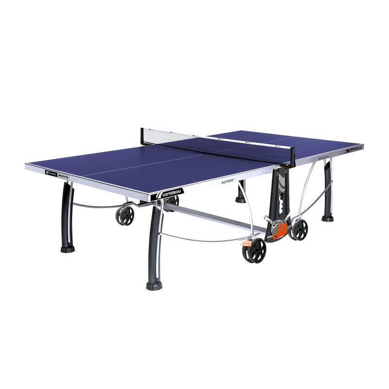 Cornilleau Outdoor Tischtennisplatte 300 S Crossover | wetterfest, klappbar, rostfrei