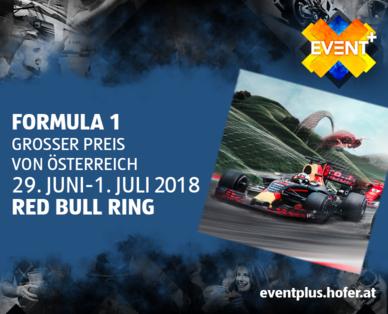 FORMULA 1 GROSSER PREIS VON ÖSTERREICH- Verkaufsstart Tickets ab 29.03. bei HOFER Österreich