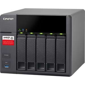 [cyberport green weekend] QNAP TS-563-2G 5-bay-NAS (AMD GX-420MC@4x 2.00GHz, 2GB RAM, 512MB Flash Memory, 5x USB3.0, SATA 6Gb/s, 2x GbE)