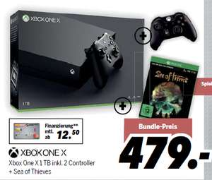 [Medimax] Xbox One X 1TB + 2. Controller + Sea of Thieves für 479,- €
