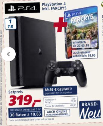 Playstation 4 1TB + Farcry 5 für 258,39€ anstatt 319€