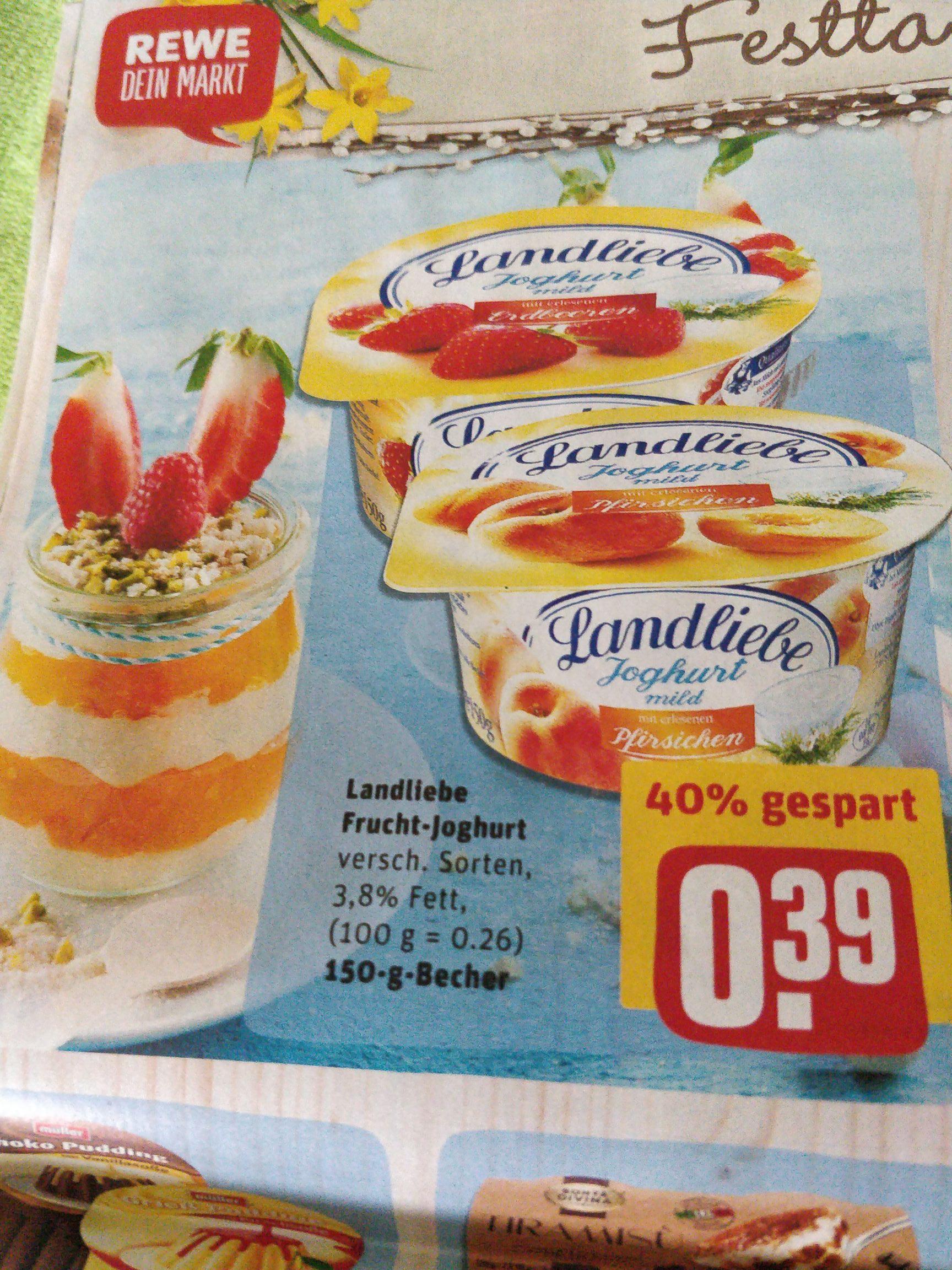 (Rewe) Landliebe Frucht-Joghurt, 6 Stück