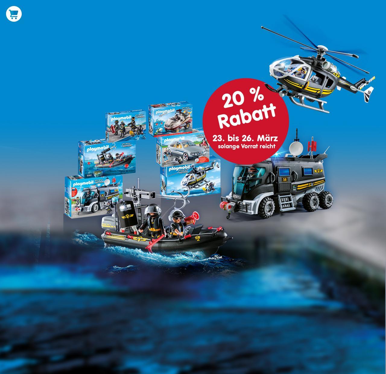 Playmobil gibt 20% auf SEK - Spielsets