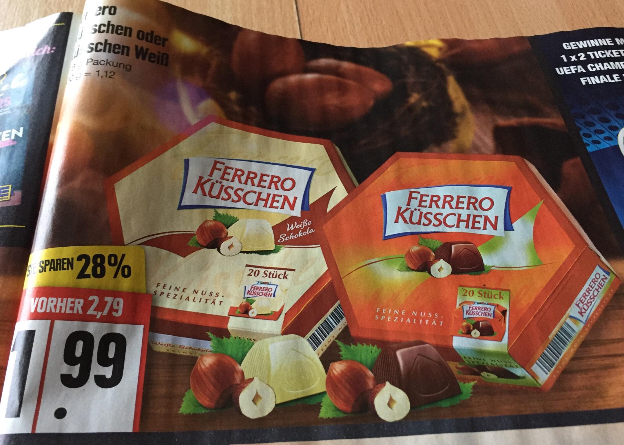 Ferrero Küsschen & Sorte weiß 1,99€ 178g / edeka ab 26.3