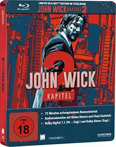 John Wick: Kapitel 2 Steelbook [Blu-ray] [Limited Edition] für 14,97€ [Amazon]