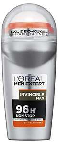 [Amazon Blitzangebot] L'Oréal Men Expert Deodorant Invincible Man, Deo Roll-On Männer für 96h Non Stop, 6er Pack (6 x 50 ml)