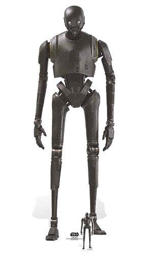 """( Amazon Prime ) 194cm Star Wars Rogue One """"k-2so Sicherheit Droid"""" Karton Ausschnitt, Mehrfarbig"""