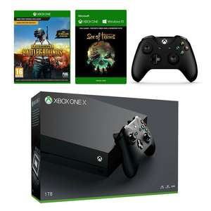 Xbox One X Konsole - 1 TB + Sea of Thieves + Playerunknown's Battlegrounds (Microsoft.ch)