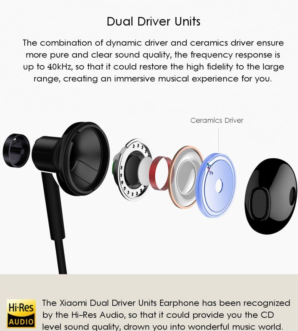 [Banggood]  Xiaomi In-Ear Kopfhörer Hybrid mit Keramik Treibern