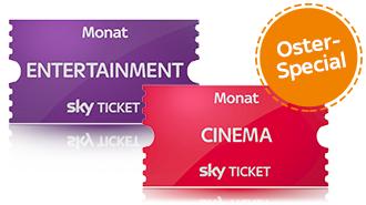 2 Monate Sky Cinema + 2 Monate Entertainment einmalig 9,99 €