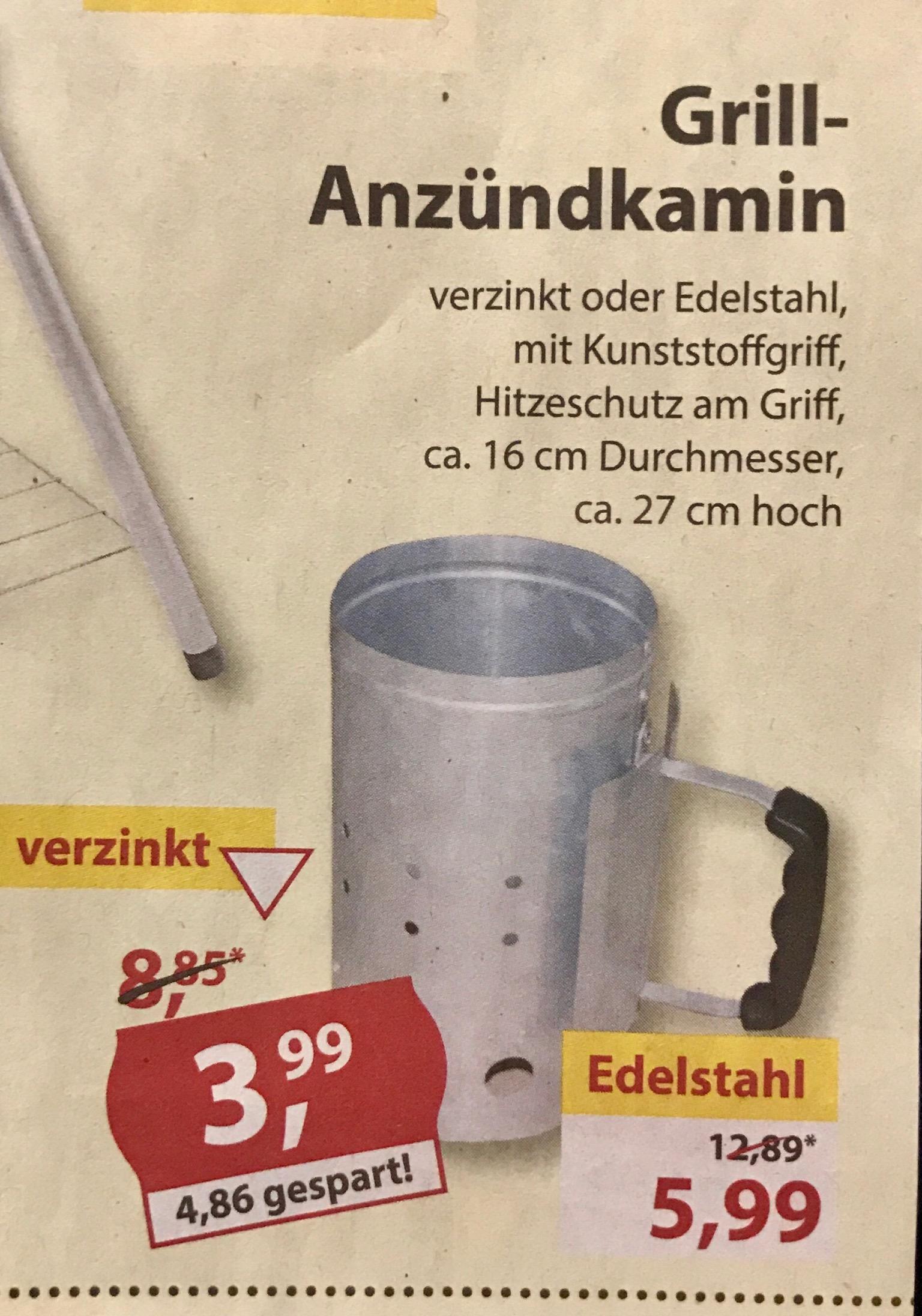 [lokal Sonderpreis-Baumarkt] Grillanzündkamin Edelstahl