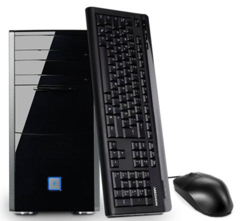MEDION® AKOYA® P5350 Komplett-PC (i5-7400, Geforce 1060/6GB, 8GB RAM, 240GB SSD + 2TB HDD, Win 10) für 721,65€ [B-Ware] [Medion]