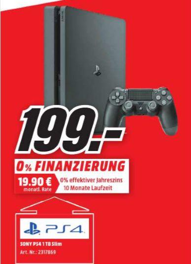 [Regional Mediamarkt Peine]  Sony PlayStation 4 (PS4) Slim 1TB für 199,-€