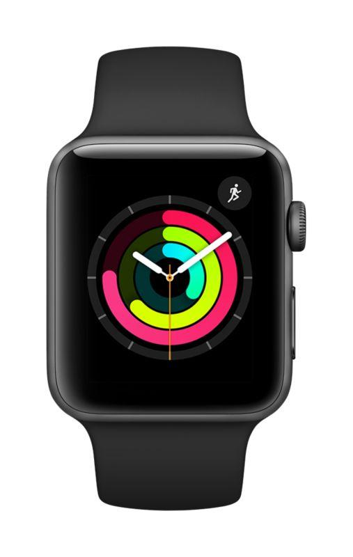 Apple Watch Series 3 GPS 42mm Aluminiumgehäuse space grau Sportarmband schwarz [Cyberport]