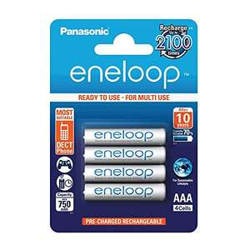 [AMAZON] Panasonic Eneloop, Ready to use, Ni-MH Akku, AAA Micro, 4er Pack, min. 750 mAh, 2100 Ladezyklen, geringe Selbstentladung, Blitzangebot! (Auch AA ohne VSK) Bitte lesen!