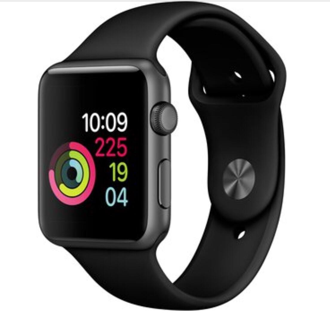 Apple Watch (Series 1) 42mm mit Sportarmband spacegrau/schwarz